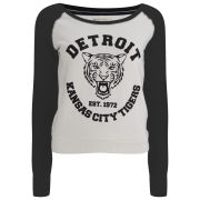 Brave Soul Women's Detroit Tigers Sweatshirt - Black