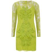 Matthew Williamson Women's Embroidered Mini Dress - Lemon Sherbet