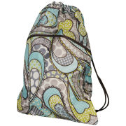 Thirty-One Cinch Drawstring Sac - Boho Patchwork Paisley
