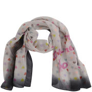Codello Women's Happy World Love, Peace & Happiness Scarf - Multi