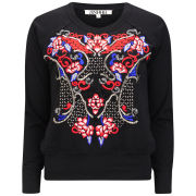 AnhHa Women's Embroidered Sweat - Black