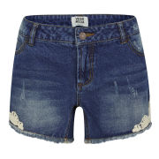Vero Moda Women's Paula Denim Shorts - Blue