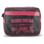 Voi Men's Worker Airliner Bag - Black/Fuschia