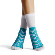 Silly Socks Adult Sneaker - Turquoise - 3-7
