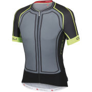 Castelli Aero Race 5.0 Full Zip Jersey - Turbulance/Black/Yellow