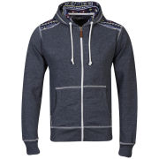 Conspiracy Men's Brett Zip Through Hoody - Denim Blue