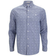 Original Penguin Men's Long Sleeve Printed Oxford Shirt - Estate Blue