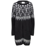 Samsoe & Samsoe Women's Kimy Long Oversized Knitted Cardigan - Black