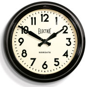 Newgate Vintage Electric Station Clock - Black