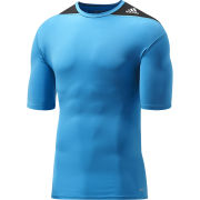 adidas Men's Tech Fit Short Sleeve Base Layer - Solar Blue