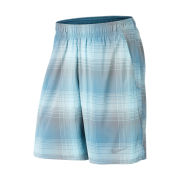 Nike Men's Gladiator 10 Inch Plaid Shorts - Navy