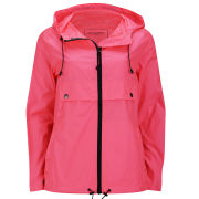 Ilse Jacobsen Women's Short Rain Jacket - Neon Coral