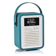 View Quest Retro Mini Bluetooth DAB+ Radio - Teal