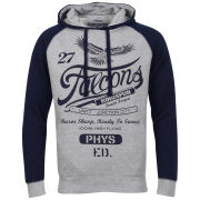 Ringspun Men's Winger Raglan Sleeve Hoody - Grey Marl/Navy
