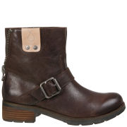 CK Jeans Women's Hadley Biker Boots - Dark Brown