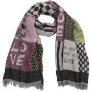 Codello Women's Happy World Love, Peace, Harmony Jacquard Scarf - Multi