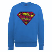 DC Comics Sweatshirt - Superman Shatter Logo - Royal Blue