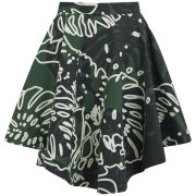 Vivienne Westwood Anglomania Women's Hydra Skirt - Forest/Grey Cheeseplant