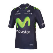Movistar 2015 Team Replica Short Sleeve Jersey - Blue