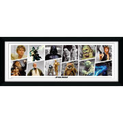 "Star Wars Characters - 30"""" x 12"""" Framed Photographic"