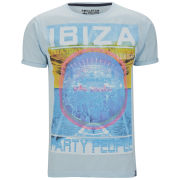 Soul Star Men's Beats T-Shirt - Light Blue Marl