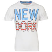 Brave Soul Men's 'New Dork' Graphic T-Shirt - White