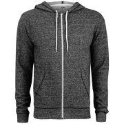 Brave Soul Men's Isaac Hooded Zip Through - Charcoal Marl
