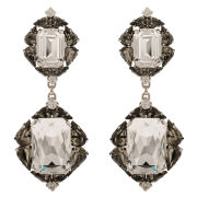 Martine Wester Cascading Crystal Earrings - Crystal/Black Diamond