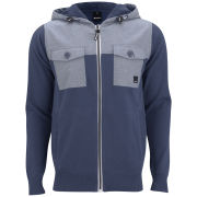 Bench Men's Gibbonsdown Hooded Knit - Dark Denim