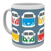 VW Camper Colour Illustration Mug