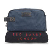 Ted Baker Getwash Wash Bag And Towel Set - Navy