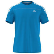 Adidas Men's Response Short Sleeve Running Tee Shirt - Solar Blue/White