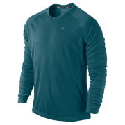 Nike Men's Miler Long Sleeve Running Top - Green