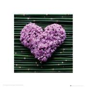 Madalene's Hearts Bamboo - 40 x 40cm Print