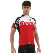 Santini Zest Short Sleeve Jersey - Red