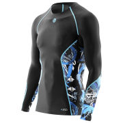 Skins A200 Active Compression Long Sleeve Top - Black/Graffiti