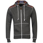 Conspiracy Men's Brett Zip Through Hoody - Charcoal Marl
