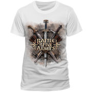 The Hobbit Battle of the Five Armies Men's T-Shirt - White