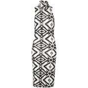 Club L Women's Enlarged Diamond Printed Midi Tube Dress - White