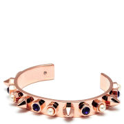 Maria Francesca Pepe Studded Cuff with Pearls and Swarovski Crystals - Rose Gold