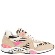Ash Women's Hendrix Leather Running Trainers - Cream/Pink