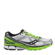 Saucony Men's Triumph 10 Running Shoe - White/Black/Slime