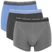 Bjorn Borg Men's Basic Contrast 3 Pack Boxers - Phantom Blue