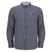 Weekend Offender Men's Falmer Check Shirt - Peach/Blue