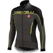 Castelli Mortirolo 3 Jacket - Anthracite/Black/Yellow Fluo