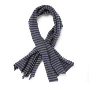 French Connection Men's Raymond Stripe Scarf - Navy/Charcoal