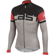 Castelli Unavolta Long Sleeve Full Zip Jersey - Grey/Black
