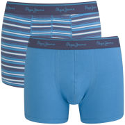 Pepe Jeans Men's Rowan 2 Pack Boxers - Windsor Blue/Turquoise