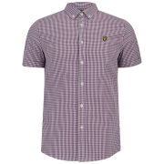 Lyle & Scott Men's Short Sleeve Gingham Shirt - Blackcurrant
