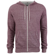 Brave Soul Men's Isaac Hooded Zip Through - Wine Marl